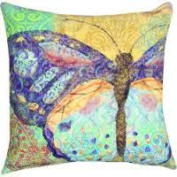 Boho Butterfly Indoor Outdoor Pillow