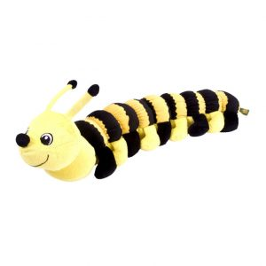 Caterpillar Stuffed Animal - Yellow & Black