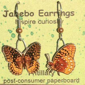 Fritillary Butterfly Earrings 420Z side