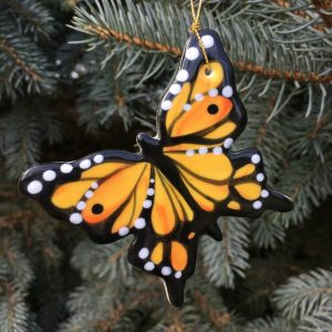 Handmade Ceramic Butterfly Christmas Tree Ornament