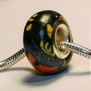 Joseph's Coat Moth Jewelry Bead