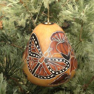 Monarch Butterflies Gourd Ornament Light CRG105N