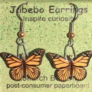 Monarch Butterfly Earrings - Jabebo 425Z