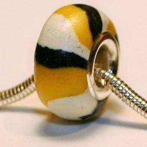 Monarch Caterpillar Jewelry Bead