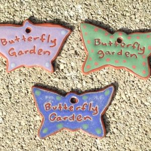 Terracotta Butterfly Garden Ornament Garden Tag