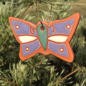Terracotta Butterfly Ornament Garden Tag 1
