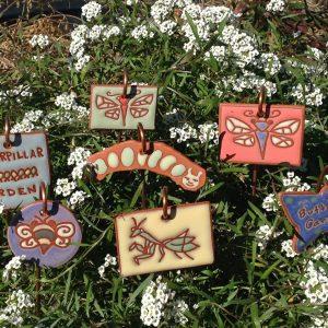 Terracotta Caterpillar Garden Tag