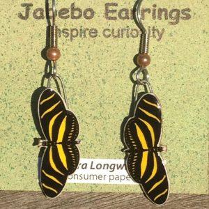 Zebra Longwing Butterfly Earrings 418Z